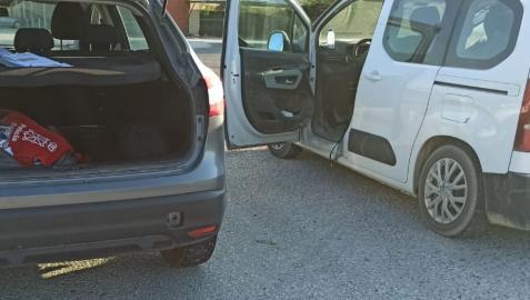 Imagen del coche que adelantó al vehículo camuflado