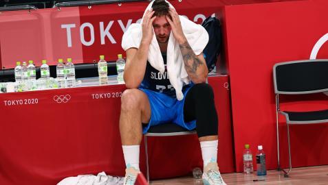 Luka Doncic, desolado tras perder la semifinal ante Francia