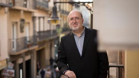 Carlos Albillo, genente de la Asociación de Comerciantes del Casco Antiguo de Pamplona