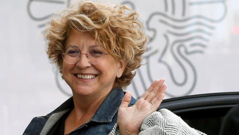 Esther García, directora de producción de las películas de Almodóvar, a su llegada al Festival de San Sebastián de 2018, donde recibió el Premio Nacional de Cinematografía