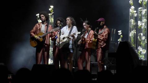 Amaia Romero, en su concierto en Pamplona