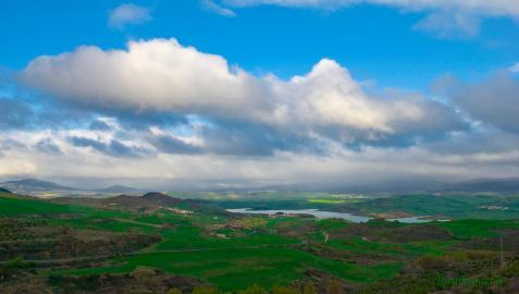 Valle de Guesalaz, donde se encuentran las foces de Murón y Lezaya