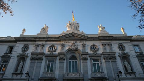 Fachada del Tribunal Supremo, en la plaza de las Salesas