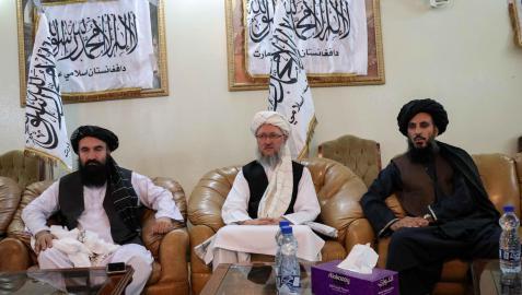 Conferencia de prensa del nuevo régimen talibán