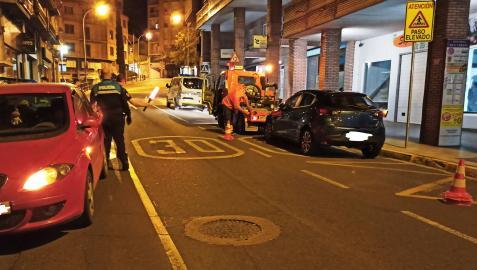 Un control nocturnos de la Policía Local de Tudela