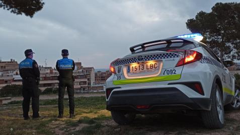 Dos agentes de la Policía Local de Tudela