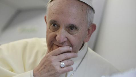 El papa Francisco, en una rueda de prensa anterior