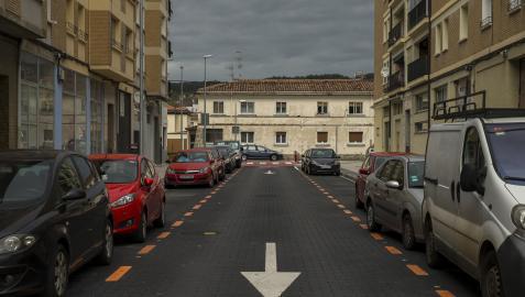 Vista de la calle Monreal, reconvertida ahora en zona naranja