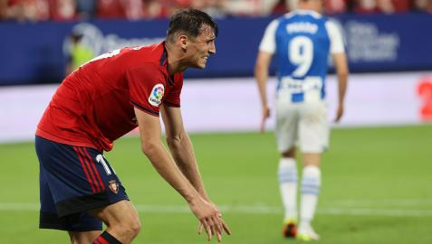 Gesto expresivo de Budimir en el primer partido contra el Espanyol