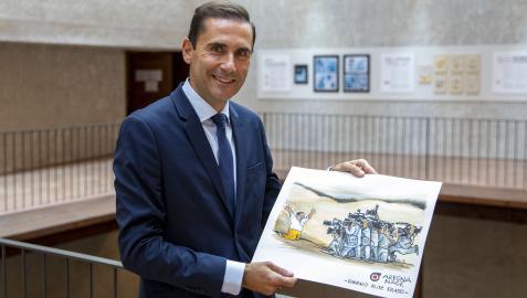 Gonzalo Ruiz Eraso ha recibido el premio este viernes, 3 de septiembre
