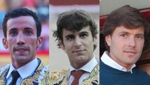 Toreros David de Miranda, Javier Marín y Juan Leal
