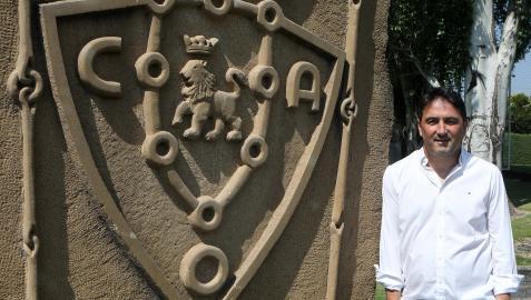 El director deportivo de Osasuna, Braulio Vázquez, en una imagen tomada en Tajonar este verano
