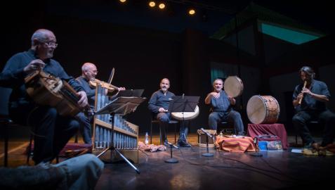 Desde la izquierda, José Manuel Vaquero, César Carazo, Alberto Barea, Álvaro Garrido e Ignacio Gil