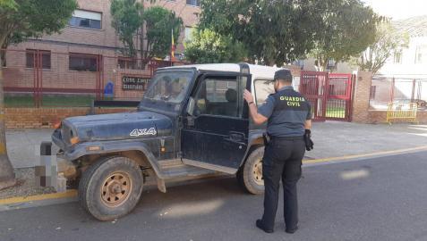 La Guardia Civil recupera un vehículo sustraído en la Ribera