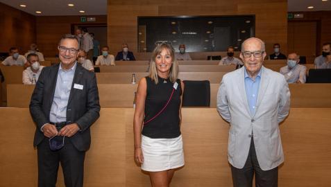 Carmelo Ezpeleta, Elena Alemán y Juan Carlos Franquet
