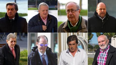Miguel Archanco, Patxi Izco, Ángel Vizcay, Txuma Peralta, Juan Pascual, Sancho Bandrés, José Manuel Purroy y Manolo Ganuza
