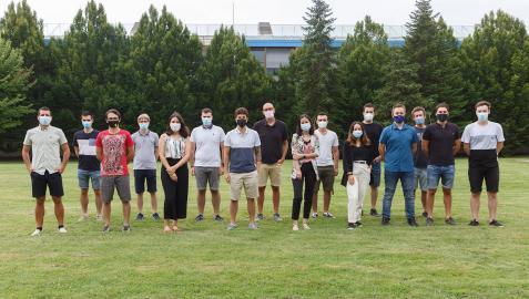 Foto de grupo de los miembros de la empresa Anteral