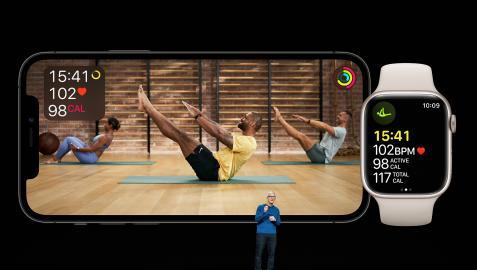 Tim Cook durante la presentación de las novedades de Apple con el iPhone 13 como producto destacado