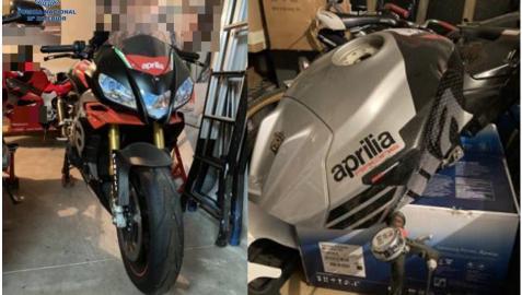 Motocicleta intervenida al detenido, cuya sustración había denunciado en falso