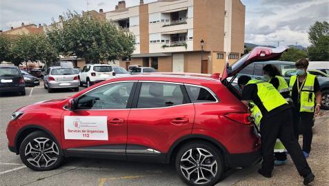 Un vehículo de Urgencias del Servicio Navarro de Salud