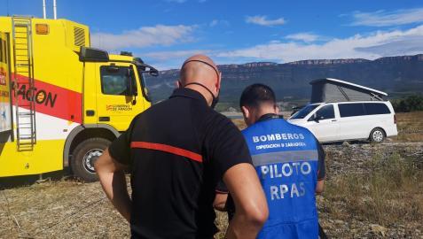 Más de 140 bomberos de Aragón, Navarra, Guipúzcoa y Francia