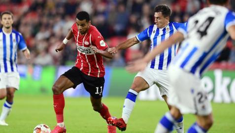 La Real ha disputado en Eindhoven el primer partido de la Liga Europa