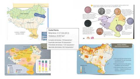 Uno de los mapas de los libros de texto mostrados por Navarra Suma