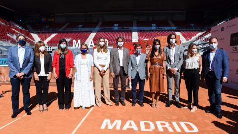Acto de presentación de la firma del convenio para que el Mutua de tenis continúe disputándose en Madrid
