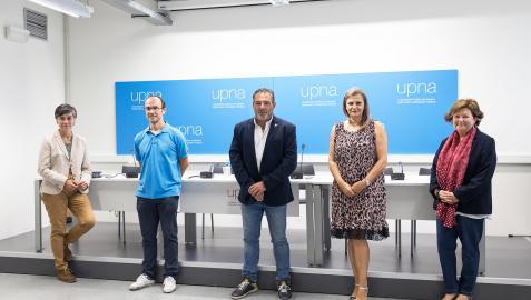 UNIDOS POR BARDENAS De izda. a dcha.: Eloísa Ramírez, Juan Ignacio Latorre Biel, José Mari Agramonte, Conchi Ausejo y Glòria Munilla.