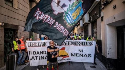 Manifestación neonazi en Chueca