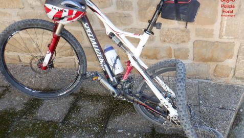 Estado de la bicicleta tras el atropello
