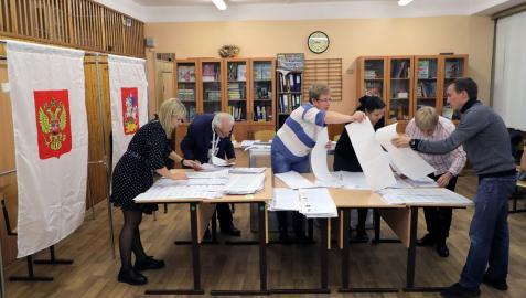 Recuento electoral en un colegio ruso