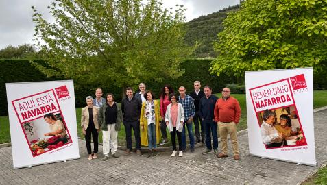 Asistentes a la presentación de la nueva campaña de Reyno Gourmet 'Aquí está Navarra'