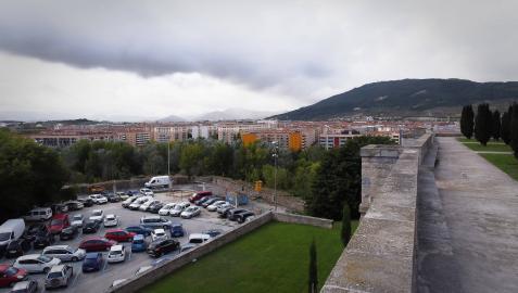 El Baluarte de Parma, ayer, visto desde el Archivo General