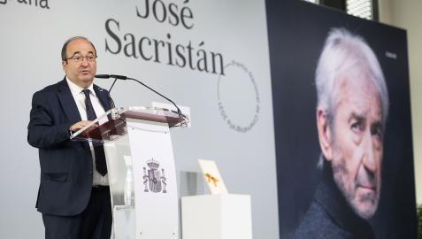 El ministro de Cultura y Deporte, Miquel Iceta, durante la entrega del Premio Nacional de Cinematografía 2021 en San Sebastián