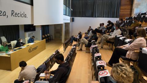 Asistentes a la presentación del Plan de Atracción de Empresas y Desarrollo Económico de Tudela