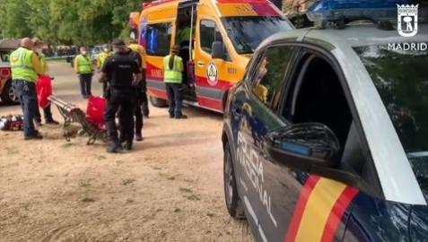 Policía Nacional en el parque de Carabanchel