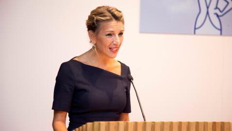 Yolanda Díaz, vicepresidenta segunda y ministra de Trabajo y Economía Social, ha mostrado su satisfación por la subida del SMI.