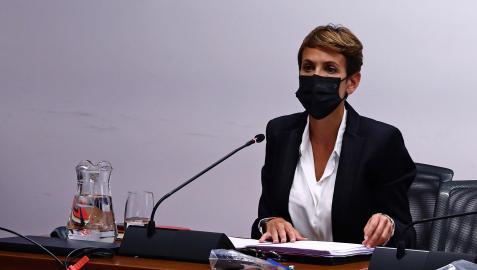 María Chivite, en una comparecencia reciente