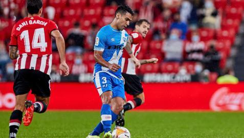 Radamel Falcao en el duelo entre Athletic y Rayo Vallecano