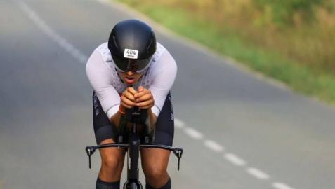 Ion Bermejo Yanguas, triatleta de Zizur de 22 años