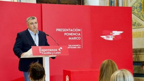 Santos Cerdán ha hablado desde Salamanca, donde se ha presentado la Ponencia Marco del XIV Congreso del PSOE de Castilla y León