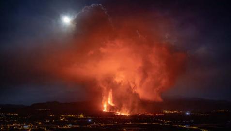 El volcán de Cumbre Vieja, a 25 de septiembre de 2021, en La Palma