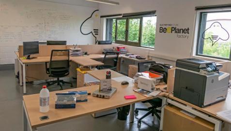 Instalaciones de Beeplanet Factory en el Centro Europeo de Empresas e Innovación de Navarra (CEIN)