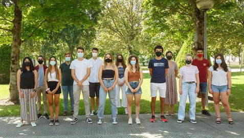 Estudiantes que conforman el equipo de la UPNA