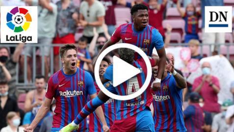 Celebración del gol de Ansu Fati