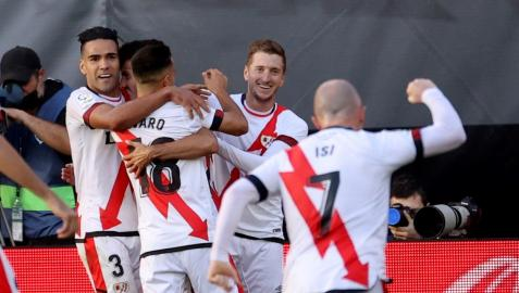 El Rayo Vallecano celebra un gol esta temporada