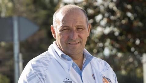 El técnico alicantino José Lucas Mena 'Pato', durante la presentación del equipo este jueves en Cascante.