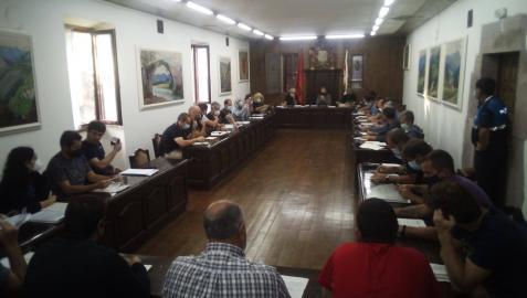 Imagen de la sesión de ayer por la tarde de la Junta General del valle de Baztan
