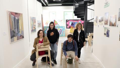 Desde la izquierda: Nerea Ciarra Tejada, Nerea Álvarez Arévalo, Gonzalo Bañon y Alejandra Aquerreta Escribano
